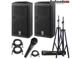 Yamaha DXR8 Powered Speaker Cabinet - Free Accenta Speaker Stands w/ bag and Novik FNK-5