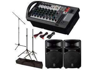 Yamaha STAGEPAS 600i 600-I PA System with Speaker Stands