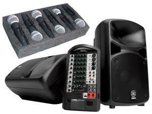 Yamaha StagePAS 600i Portable PA System with 6 Free Microphones Pure Resonance Audio Ultra-Clear UC1S