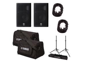Yamaha DXR8 Powered Speaker w/Stands, Bags and Cables