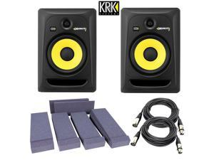 KRK RP8G3-NA Rokit 8 Generation 3 Powered Studio Monitor + Free Talent Insolation PAD and PSC XLR Cables