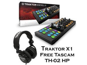Native Instruments Traktor Kontrol X1 MkII DJ Controller - Free Tascam DJ Headphone TH-02.
