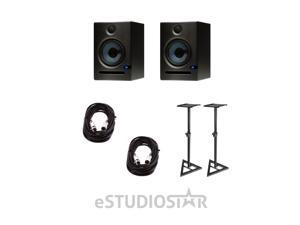 "PreSonus Eris E5 2-Way 5.25"" Nearfield Studio Monitor Pair w/ Stands & Cables"