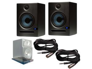 PreSonus Eris E5 (Pair) Active Monitors with Primacoustic IsoPlane Isolation Pads TRS to XLR-M Cables