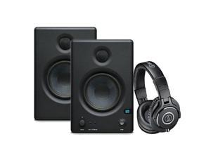 "PreSonus Eris E.45 HD 2-Way 4.5"" Nearfield Monitors, - Bundle With Audio-Technica ATH-M40x Professional Monitor Headphones, Black"