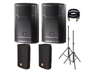 JBL PRX715 15-Inch Two-Way Full Range Main System/Floor Monitor. With Free Cover, STand and XLR Cables.