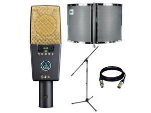 AKG Pro Audio C414 XLII Vocal Condenser Microphone, Multipattern. With Free Talent Filter, MIC Stand and 1 XLR Cable
