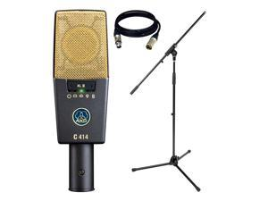 AKG Pro Audio C414 XLII Vocal Condenser Microphone, Multipattern.With FREE MIC Stand and 1 XLR Cable