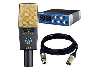 AKG Pro Audio C414 XLII Vocal Condenser Microphone, Multipattern. Free Audio Box USB and 2 XLR Cables