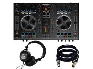 Denon DJ MC4000 2-Ch 2-Deck Serato DJ Controller - New. W/ Tascam TH02 and 2 XRL Cables.