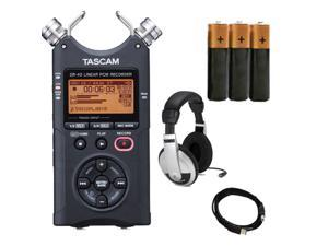 TASCAM DR-40 4-Track Portable Digital Recorder. W/ USB Cable + 3 Battery and Samcon HP10 Headphone.