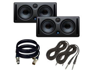 PreSonus Eris E66 Near Field Monitor Pair. With (2) XLR Cables + (2) TRS Cables