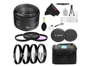 Canon EF 50mm f/1.8 II Camera Lens for T3, T3i, T4i, T5, T5i, 5D, 6D, 60D, 7D, 70D, SL1, 600D, 650D, 700D, 100D, 1100D + Pixi-Advanced Accessory Bundle