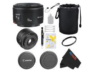 Canon EF 50mm f/1.8 II Camera Lens for T3, T3i, T4i, T5, T5i, 5D, 6D, 60D, 7D, 70D, SL1, 600D, 650D, 700D, 100D, 1100D + Pixi-Basic Accessory Bundle