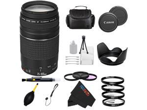 Canon EF 75-300mm f/4-5.6 III Telephoto Zoom Lens for Canon SLR Cameras T3, T3i, T4i, T5, T5i, 5D, 6D, 60D, 7D, 70D, SL1, 600D, 650D, 700D, 100D, 1100D + Pixi-Advanced Accessory Bundle