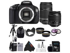 Canon EOS Rebel 600D / T3i Digital SLR Camera with EF-S 18-55mm f/3.5-5.6 IS Lens + Canon EF-S 55-250mm f/4.0-5.6 IS II Telephoto Zoom Lens + Pixi-Advanced Accessory Bundle