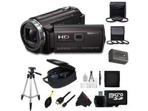Sony HDRPJ540/B Video Camera with 3-Inch LCD (Black) + Pixi-Advanced Accessory Bundle