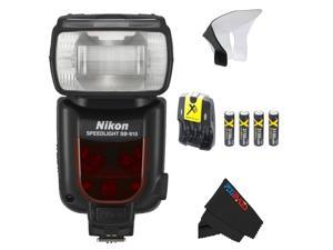 Nikon SB-910 AF Speedlight Flash for Nikon Digital SLR Cameras + Pixi-Basic Flash Accessory Bundle