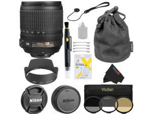 Nikon 18-105mm f/3.5-5.6 AF-S DX VR ED Nikkor Lens for Nikon Digital SLR Cameras Basic Accessory Bundle