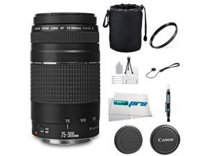 Canon EF 75-300mm f/4-5.6 III Telephoto Zoom Lens for T3, T3i, T4i, T5, T5i, SL1, 5D, 6D, 60D, 7D, 70D, 600D, 650D, 700D, 100D, 1100D, 1200D + I3E Pro Basic Accessory Bundle