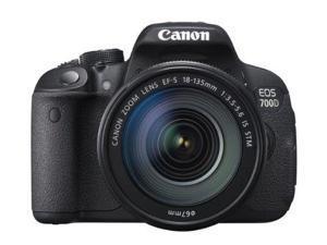 Canon EOS 700D Digital SLR Camera and 18-135mm EF-S IS STM Lens (Black)