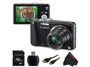 Panasonic DMC-ZS20/TZ30 Digital Camera (Black) + 16 GB Pixi-Basic Accessory Bundle