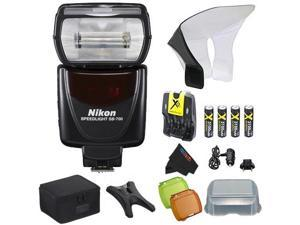 Nikon SB-700 AF Speedlight Flash for Nikon Digital SLR Cameras + Pixi-Basic Flash Accessory Bundle