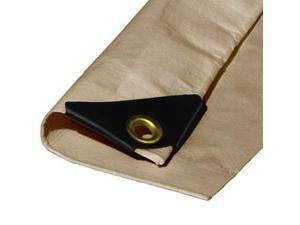 18ft X 30ft Heavy Duty Premium Desert Tan Poly Tarp - 12 Mil Thickness