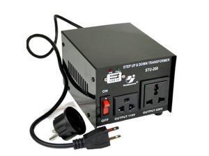 Goldsource STU-200 Step Up/Down Voltage Transformer Converter - AC 110/220 V - 200 Watt