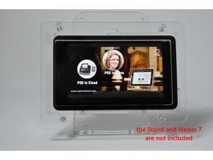 Nexus 7 VESA Mount Anti-theft Security Enclosure,Clear Acrlyic material for POS, Kiosk, Store Display, Square Card Reader