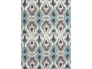 Jaipur BR45 Hand-Tufted Tribal Pattern Polyester Blue/Ivory Area Rug ( 2x3 )