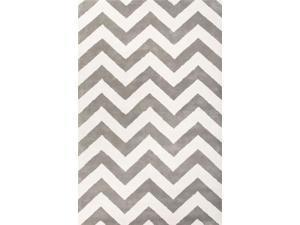 Jaipur TV30 Hand-Tufted Geometric Pattern Wool Gray/Ivory Area Rug ( 5x8 )
