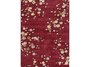 Jaipur BR17 Hand-Tufted Floral Pattern Polyester Red/Yellow Area Rug ( 5x7.6 )