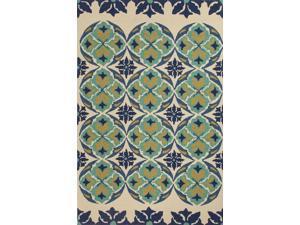 Jaipur BA45 Tribal    Blue/Ivory Indoor-Outdoor Area Rug ( 3.6x5.6 )
