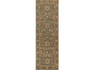 Jaipur PM05 Hand-Tufted Oriental Pattern Wool Green/Red Area Rug ( 9.6x13.6 )