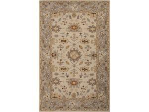 Jaipur PM123 Hand-Tufted Oriental Pattern Wool Ivory/Gray Area Rug ( 2x3 )