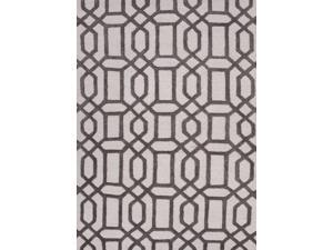 Jaipur CT07 Hand-Tufted Geometric  Wool/ Art Silk Ivory/Gray Area Rug ( 2x3 )