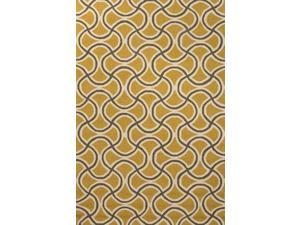 Jaipur BA28 Geometric   Yellow/Taupe Indoor-Outdoor Area Rug ( 2x3 )