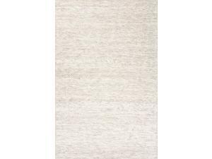 Jaipur SCR10 Handmade Textured Wool Ivory/Gray Area Rug ( 5X8 )