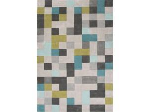 Jaipur FN24 Hand-Tufted Durable Polyester Gray/Blue Area Rug ( 3.6X5.6 )