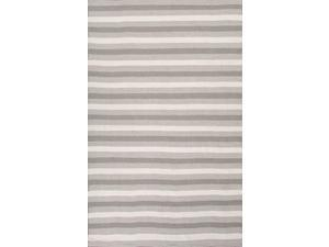 Jaipur BIH02 Indoor-Outdoor Easy Care Polyester Gray/Ivory Area Rug ( 5X8 )