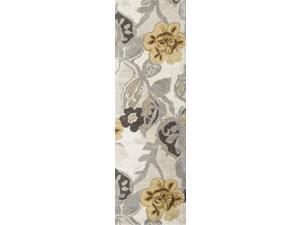Jaipur BL65 Hand-Tufted Floral  Wool/ Art Silk Ivory/Yellow Area Rug (9.6x13.6)