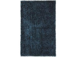 Jaipur FL03 Shag Solid Pattern Polyester Blue/ Area Rug ( 5x7.6 )