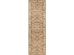 Jaipur PM38 Hand-Tufted Oriental Pattern Wool Taupe/Ivory Area Rug ( 8x10 )