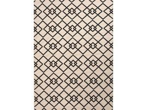 Jaipur PAO01 Indoor-Outdoor Durable Polypropylene Ivory/Black Area Rug ( 4x5.3 )