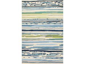 Jaipur CO19 Abstract   Blue/Green Indoor-Outdoor Area Rug ( 3.6x5.6 )
