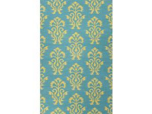 Jaipur UB35 Flat-Weave Tribal Pattern Wool Green Area Rug ( 5X8 )