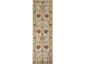 Jaipur PM72 Hand-Tufted Arts and Craft Pattern Wool Ivory/Red Area Rug ( 2x3 )