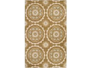 Surya MOS-1069 Mosaic Transitional Floral Rectangle Beige 9' x 13' Area Rug