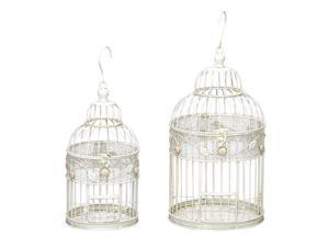 "Metal Bird Cage Set of 2 in 17"", 14""H 64656"